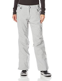 686 Women's Authentic Patron Pant, Light Grey Texture, Small