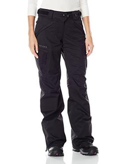 686 Women's Authentic Smarty Cargo Pants, Black Tall, Medium