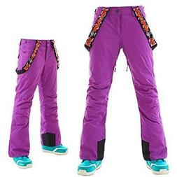 APTRO Bibs Women's Ski Pants With Suspender Windproof Waterp