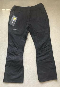 Armada Black Banana Leaf Lenox Insulated Womens Ski Pants