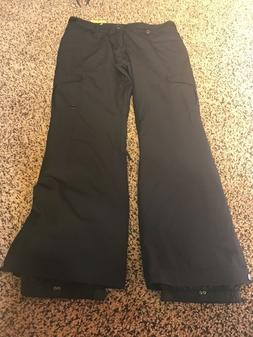 black womens waterproof ski snowboard pants white
