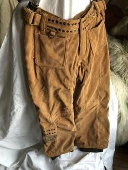 bliss insulated camel color ski snowboard pants