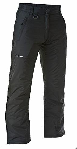 Arctix Full Side Zip Insulated Snow Pants, 3X-Large, Black