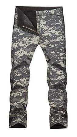 MAGCOMSEN Camo Pants Men Combat Pants Fleece Lined Pants Sof