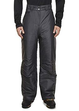 Swiss Alps Mens Dark Grey Insulated Pocket Ski Pants, 2XL