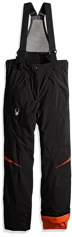 Spyder Boys Force Pant, 18, Black/Volcano