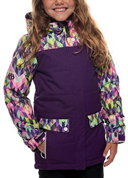 686 Girl's Lily Insulated Jacket, Kaleidoscope Print, Small