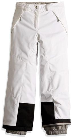 Spyder Girls' Olympia Ski Pant Regular Fit, White/Black, Siz