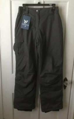 girls snow ski pants insulated gray youth