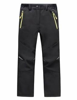 LANBAOSI Kids Boys Girls Waterproof Outdoor Hiking Pants War