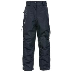 Kids' Youth TRESPASS Marvelous Ski Pants BLACK Insulated Wat