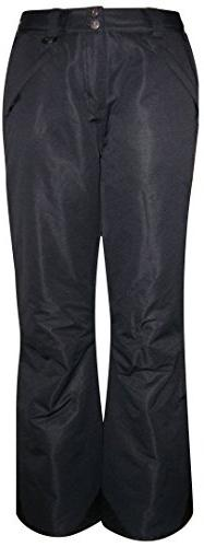 Pulse 0316 Womens Black Insulated Vented Ski Snow Pants XL B