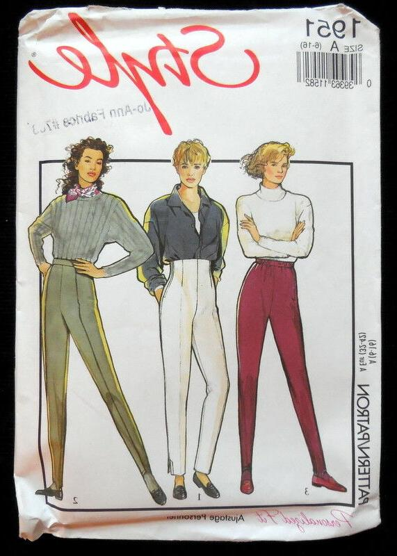 STYLE SEW MS TROUSERS SKI PANTS KNITS ONLY 6-16