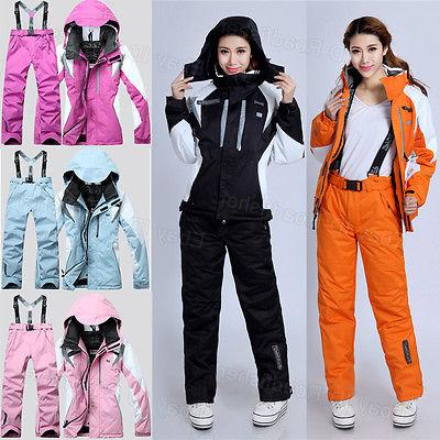 2018 Women's Winter Waterproof Coat Pants Ski Suits Jacket S