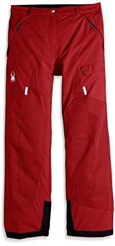 Spyder Boy's Action Ski Pant, Red, Size 12