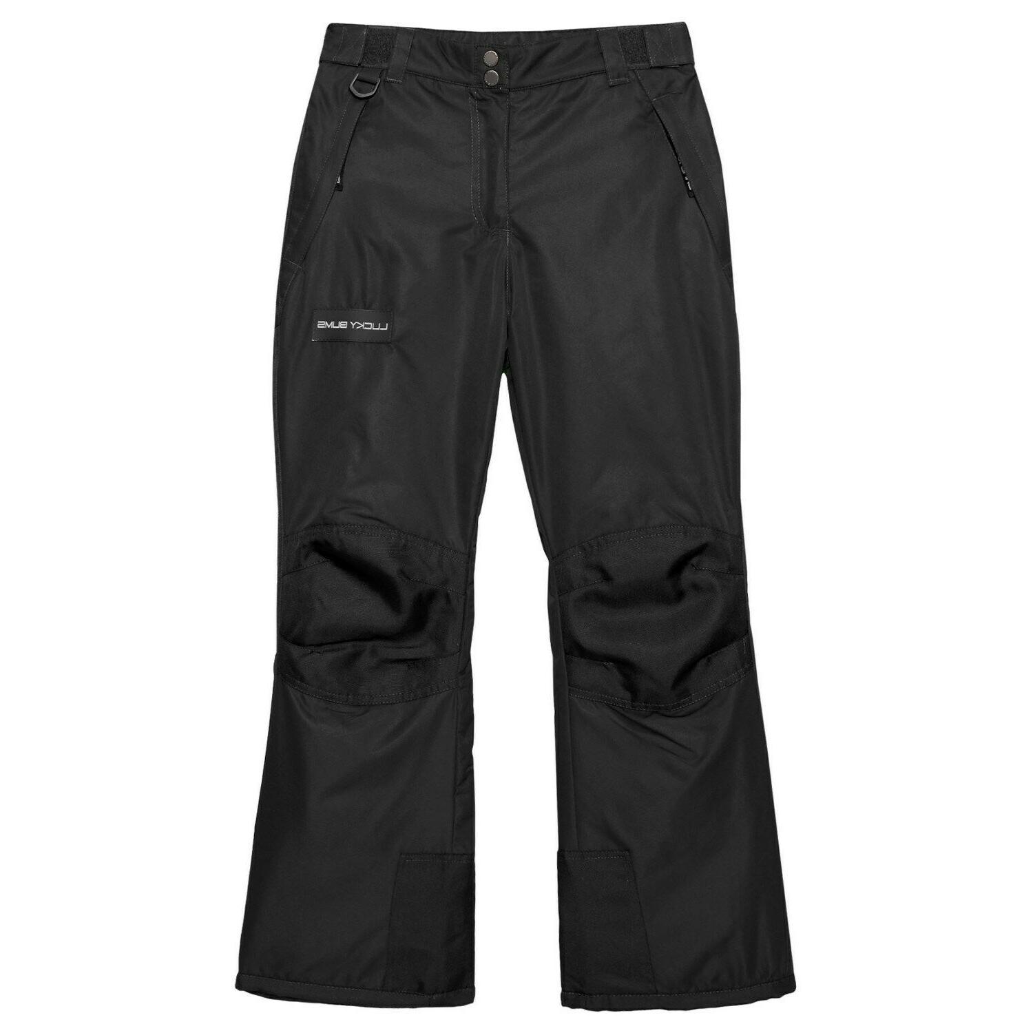adult snow ski pants with reinforced knees