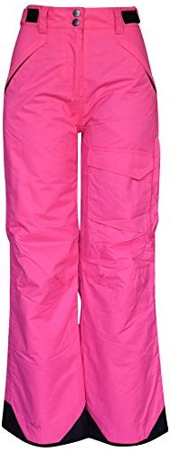 Pulse Big Girls Rider Skiing Ski Snow Pants Insulated , Pink