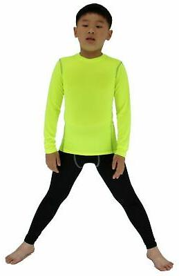 boys and girls long sleeve compression shirts