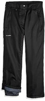 Arctix Full Side Zip Insulated Snow Pants, Medium, Black