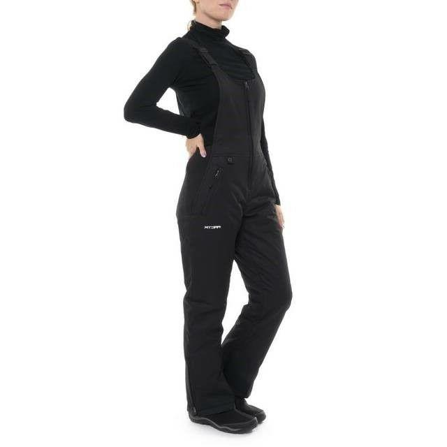 Women's Insulated Overalls Bib, 4X, Black