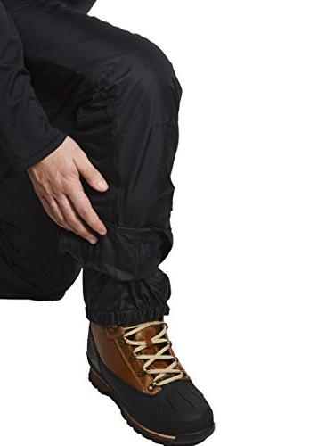Swiss Alps Mens Deep Black Insulated Bib Pants,