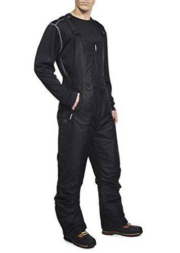 Swiss Alps Mens Deep Black Insulated Zip-Up Bib 2XL