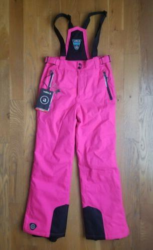 girls hot pink insulated ski pants size