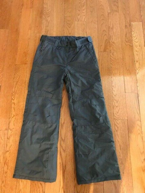 gray insulated snow ski pants size youth