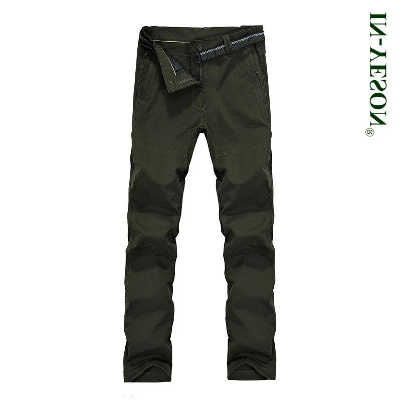 IN-YESON Brand Outdoor Sports <font><b>Pants</b></font> Hiking Trekking <font><b>Ski</b></font> Waterproof Softshell Trousers Size <font><b>5XL</b></font>