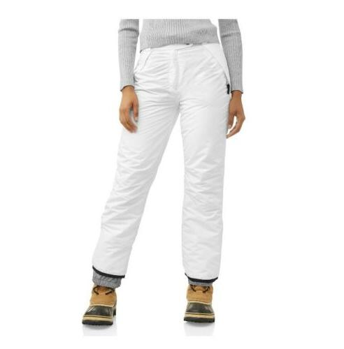 insulated pull on ski snowboarding pants white