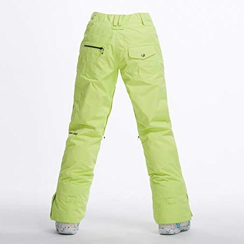 APTRO Women's Snow Pants Windproof Ski Pants Light Green XS