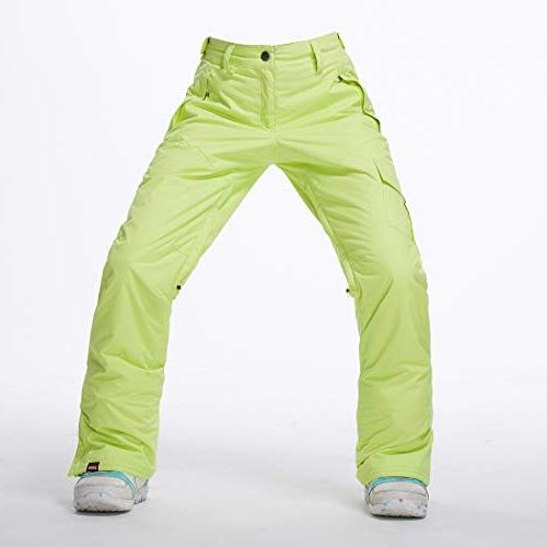APTRO Women's Snow Pants Windproof Ski Pants 1421 Light Green