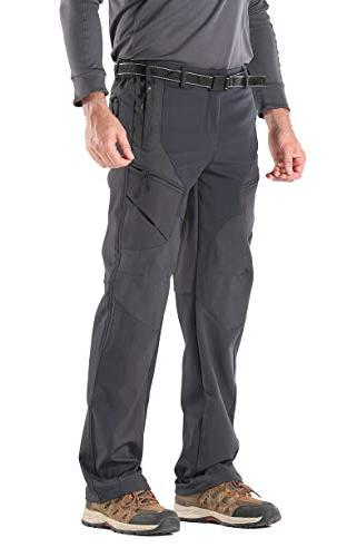 insulated windproof hiking pants softshell