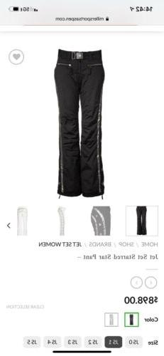 Jet Set Jetset Gorsuch Women Black Winter Snow Ski Pants Sta