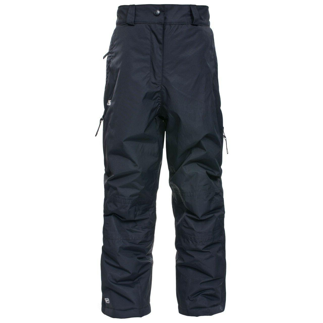 kids youth marvelous ski pants black insulated