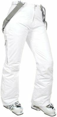 Trespass Lohan, White, XS, Waterproof Ski Trousers with Side