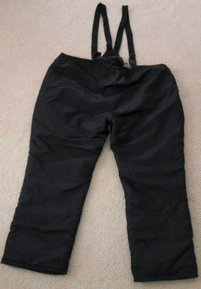 Faded Bib Pants Big Men 56-58 Black NEW