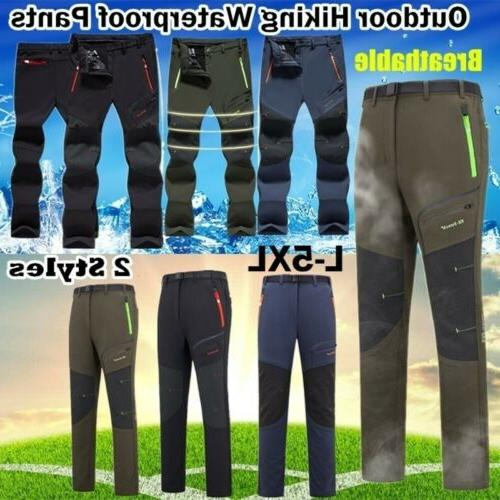 Men's Waterproof Trousers Thick Fleece Skiing Hiking