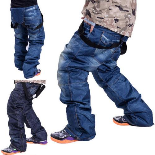 men s waterproof ski pants denim outdoor