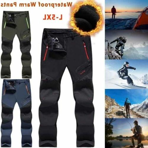 men s waterproof winter trousers thick fleece