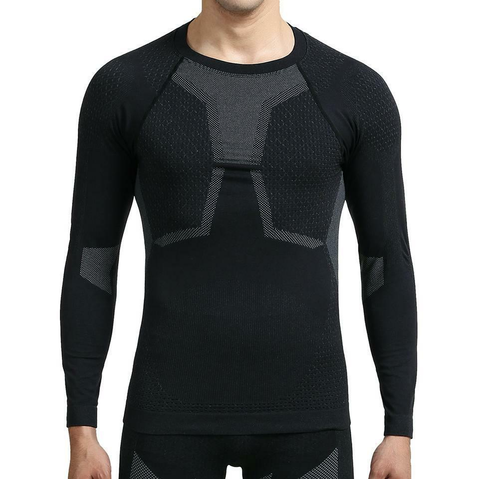 Men Ski Thermal Underwear Set Boy Quick Dry Funktion Compres