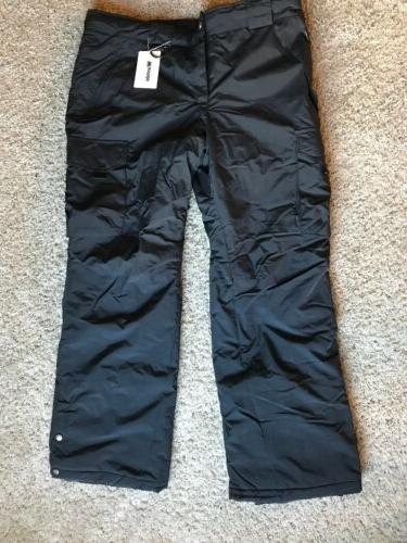 new black mens ski snow insulated fleece