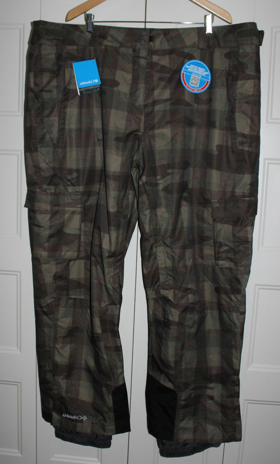 NEW Columbia Ski Snowboard Pants Men size 4X 4XL Ridge 2 Run