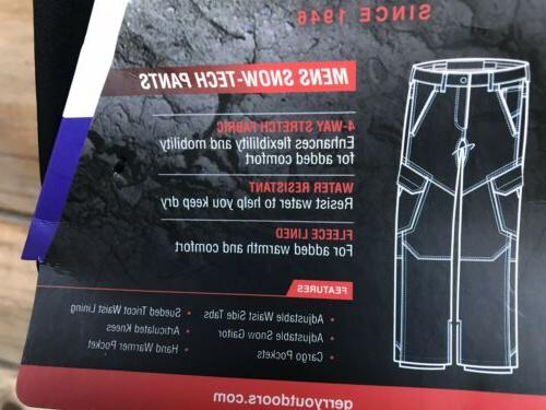 NEW / 2XL Gerry Men's Snow-Tech Pants Boarder Pant Way Stretch