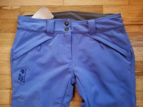 NWT Mountain Chuter Softshell Ski Pants FLEECE LINED BLUE SZ 6