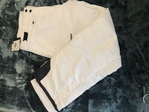 nwt white insulated waterproof womens snow pants