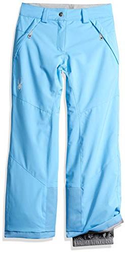 Spyder Girls' Olympia Ski Pant Regular Fit, Blue Ice/Blue Ic