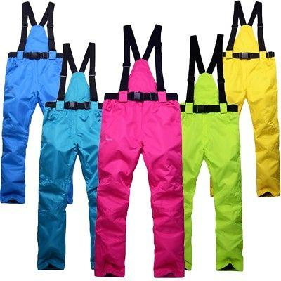 Outdoor Winter Waterproof Men's Women's Warm Ski Pants Snowb