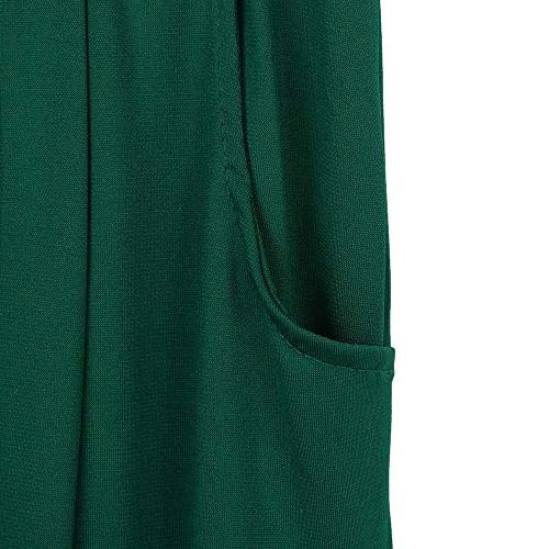POQOQ Trousers Women Plus Wide Leg Loose Casual M Green