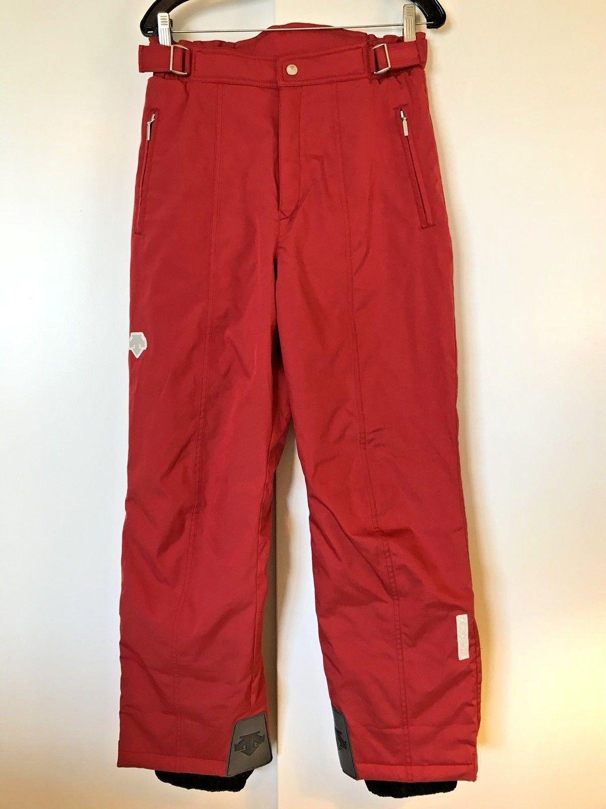 DESCENTE Red Ski Snowboard PANTS Womens Winter